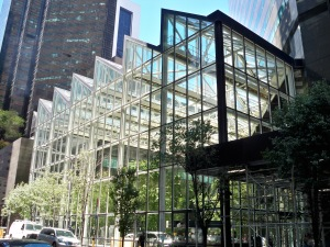 IBM Building atrium by Matthew Bisanz via wikipedia