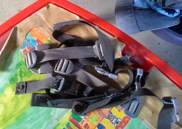 straps salvaged from strollers