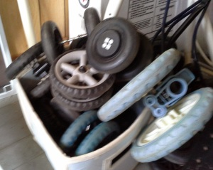 old stroller wheels