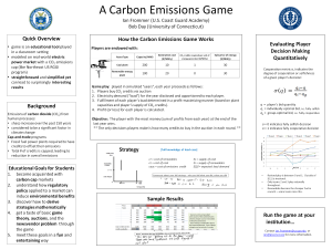 Carbon Emissions Game Poster