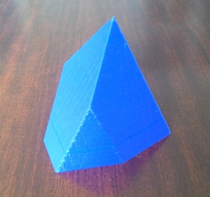 3D printed polyhedral feasible regions